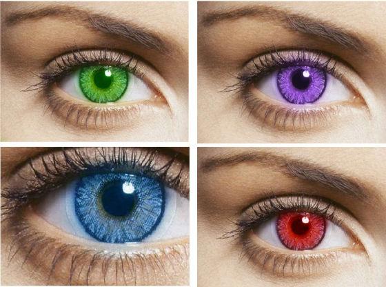 Линзы меняющие цвет глаз цена